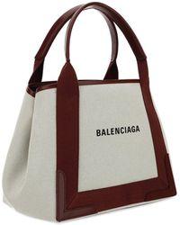 Balenciaga Navy Cabas Tote Bag - Brown