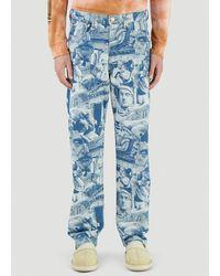 Aries X Lee Straight-leg Jeans - Blue