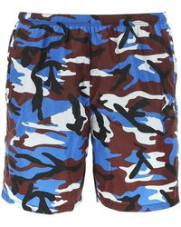 Prada Printed Swimming Shorts - Blue