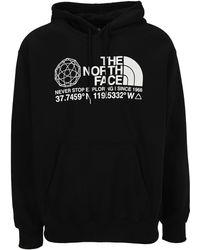 The North Face Coordinates Printed Hoodie - Black