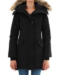 Canada Goose Rossclair Fur Trim Parka - Black