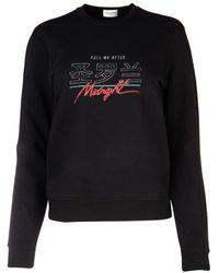 Saint Laurent Embroidered Sweatshirt - Black
