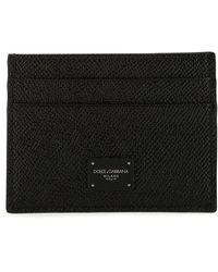 Dolce & Gabbana Logo Plaque Cardholder - Black