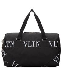 Valentino Logo-webbing And Leather-trimmed Nylon Holdhall - Black