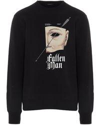 Undercover Graphic Print Crewneck Sweatshirt - Black