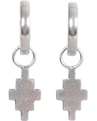 Marcelo Burlon Cross Hoop Earrings - Metallic