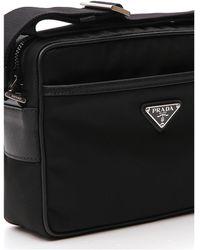 Prada - Logo Plaque Pouch Messenger Bag - Lyst