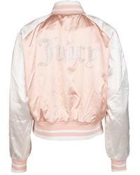 Kappa X Juicy Couture Side Logo Panel Bomber Jacket - Pink