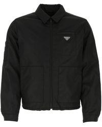 Prada Black Re-nylon Jacket Nd Uomo