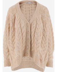 Stella McCartney Cable Knit Cardigan - Natural