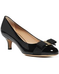 Ferragamo Carla Court Shoes - Black