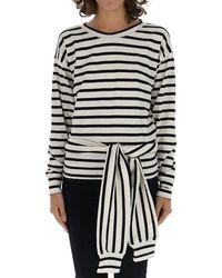 Sonia Rykiel Waist-tied Striped Blouse - Black