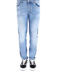 Marcelo Burlon Two-toned Slim-fit Jeans - Blue