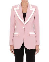 Dolce & Gabbana Woollen Fabric Single-breasted Jacket - Pink