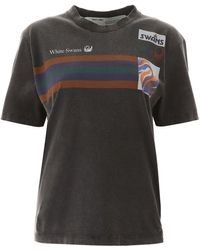 Off-White c/o Virgil Abloh - Black Cotton T-shirt - Lyst