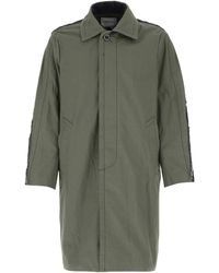 Sacai Army Cotton Blend Overcoat Uomo - Green