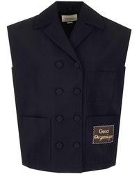 Gucci Oversized Vest - Black