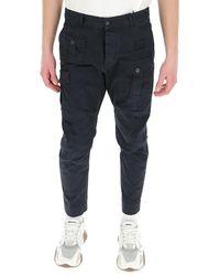 DSquared² Pocket Detail Cargo Trousers - Black