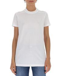 Rick Owens DRKSHDW Round Neck T-shirt - White