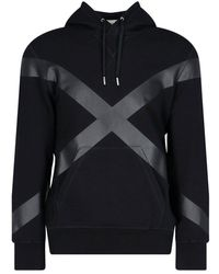 Alexander McQueen Cross Detail Hoodie - Black