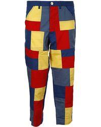 Comme des Garçons Patchwork Pants - Blue