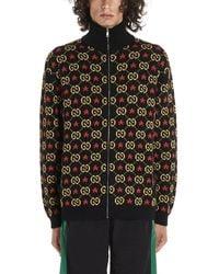 Gucci GG Star Cotton Jacquard Bomber Jacket - Black