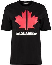 DSquared² Logo Print Crewneck T-shirt - Black