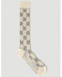 Gucci GG Lamé Socks - Natural