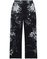 Balenciaga Paint-effect Track Pants - Black