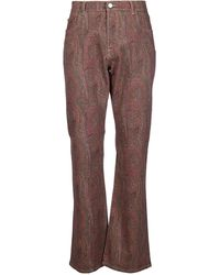Etro Paisley Print Flared Jeans - Brown