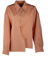 Lemaire Twisted Front Shirt - Pink