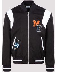 Marcelo Burlon College Varsity Jacket - Black
