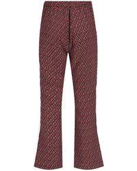 Marni Micro Check Pyjama Trousers - Red