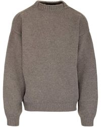 Fear Of God Crewneck Knitted Sweater - Natural
