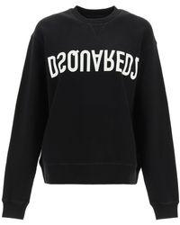 DSquared² Logo Sweatshirt Xs Cotton - Black