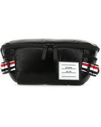 Thom Browne Logo Patch 4-bar Belt Bag - Black