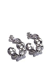 Maison Margiela Chain Studded Earrings - Metallic