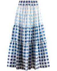 STAUD Laney Maxi Skirt - Blue