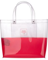 Opening Ceremony Logo Printed Two-tone Tote Bag - Pink
