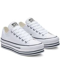 Converse Chuck Taylor All Star Platform Sneakers - White