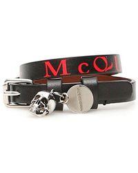 Alexander McQueen Double Wrap Bracelet - Red