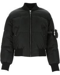 Prada Padded Bomber Jacket - Black
