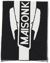Maison Kitsuné Branded Scarf - Black