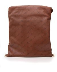 Stella McCartney Faux Leather Drawstring Backpack - Brown