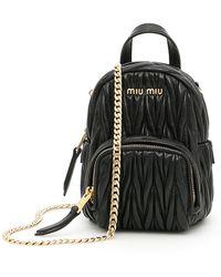 Miu Miu - Matelassé Mini Backpack - Lyst
