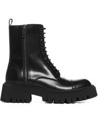 Balenciaga Tractor Side-zip Boots - Black