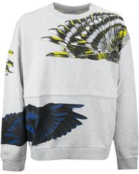 Marcelo Burlon Winds Print Crewneck Sweater - Gray