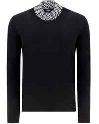 Fendi Ff Vertigo Motif Turtleneck Sweater - Black