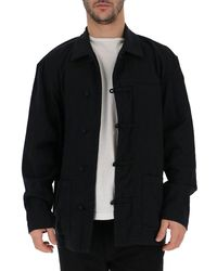 Issey Miyake Changshan-style Overshirt - Black