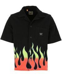 GALLERY DEPT. Flame Print Short-sleeve Shirt - Black